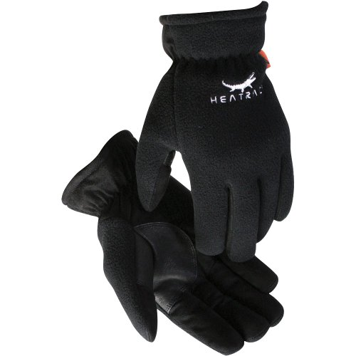 Synthetic Leather Palm Gloves (Caiman 1390-5 Synthetic Leather Palm Fleece Back Heatrac Insulated Glove, Large)