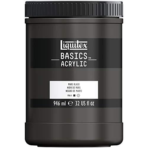 Liquitex BASICS Acrylic Paint, 32-oz jar, Mars Black ()