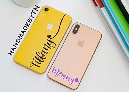 Personalized Name Clear Transparent Phone Case Xs Max Xs Xr X 8 8 Plus 7 7 Plus 6 6 Plus 6s 6s Plus Se 5s 5 Samsung Galaxy Case Note 9 8 S10 Plus S10
