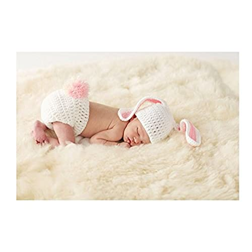 Mud pie newborn baby easter bunny bloomer and ears hat photography set 1592053