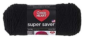 RED HEART Super Saver Yarn, Black