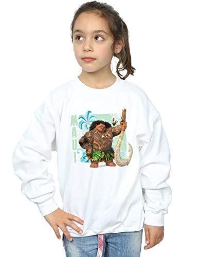 Disney Moana Blanco Sudadera Maui Girl wHgZqPx