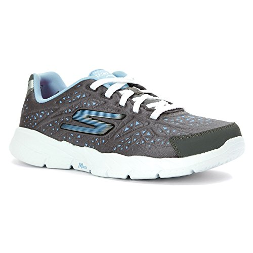 Skechers Womens GOfit 2 Presto Lightweight Sneaker Charcoal / Light Blu A3coTn