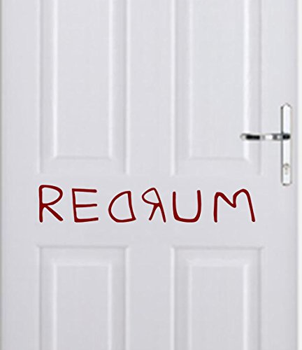 Redrum Sticker - Redrum From the Shining- Halloween Wall Decal- 24x5 (Red)