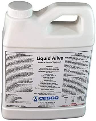 Liquid Alive Bacteria Enzyme Treatment - for Septic RV Boat - Odor Digester (32 oz)