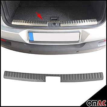OMAC - Protector para borde del maletero (acero inoxidable, interior, cromado, reborde VW Tiguan a partir del año de construcción 2007): Amazon.es: Coche y ...