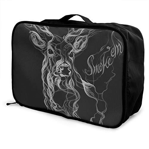 Lightweight Large Capacity Portable Luggage Bag Smoke-Deer Travel Duffel Bag Backpack