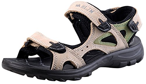 Womens Flat Sporty Beach Sandal Water Shoes Casual Athletic Sandals Beige IBTQ5ZsNnH