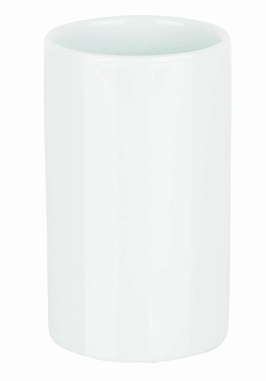 Spirella Tube Pot pour brosses à dent en grès Blanc 10.16061