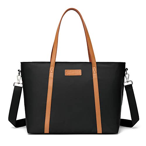 Large Tote Bag for Women, Laptop Work Shoulder Tote Bags with Trolley Sleeve 8