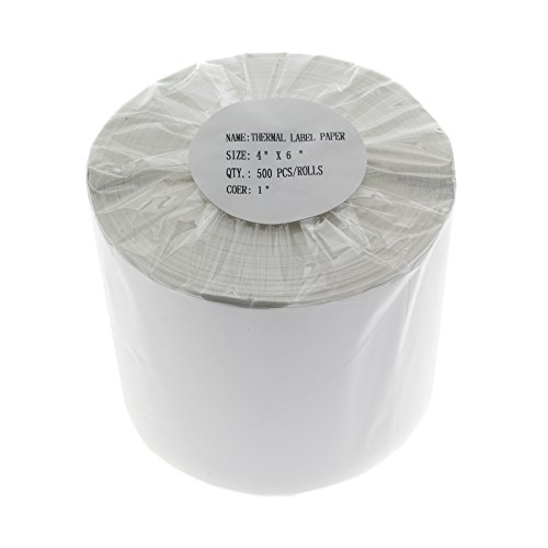 "Price comparison product image Thermal Shipping Labels""4"" x 6"" 4x6 500 per Roll (1 roll) inch for Zebra ZP-500 ZP-450 ZP505 ZP500"