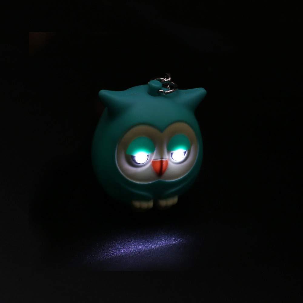 Emerayo LED Light Up Toys, Cute Cartoon Owl Keychain (Green, One) by Emerayo (Image #4)