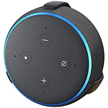 TotalMount Echo Dot - Soporte de pared sin agujeros (3ª generación), Negro
