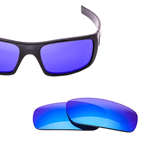 LenzFlip Replacement Lenses for Oakley CRANKSHAFT - Gray Polarized with Blue Mirror - Lenses Replace Oakley Will