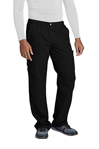 Grey's Anatomy Active 0215 Men's Cargo Pant Black XL by Barco (Image #1)