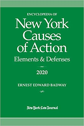 New Laws For 2020.Encyclopedia Of New York Causes Of Action 2020 Elements
