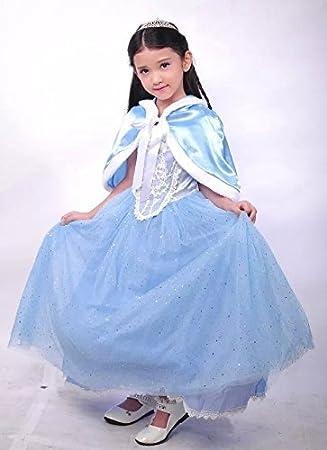 6f37eec5633cb シンデレラドレス プリンセス ドレス 子供用 コスプレ ショール ティアラ ポーチ セット (140cm)