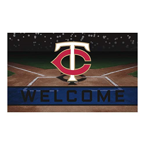 (FANMATS 21925 Team Color Crumb Rubber Minnesota Twins Door Mat)
