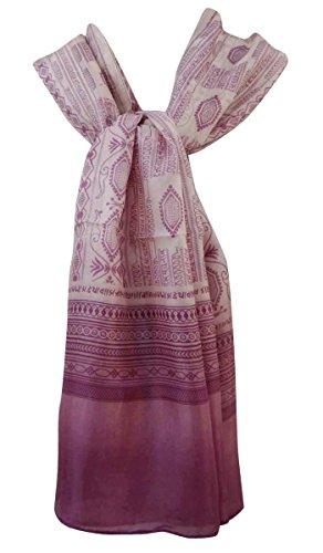 Mant Aboutyou de Bufandas Resumen seda Impreso Pura Hijab bufanda pqp1rx