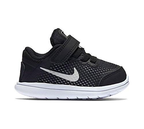 Nike Flex 2016 Rn (Tdv), Zapatos de Primeros Pasos Para Bebés Negro (Negro (Black / Metallic Silver-White))
