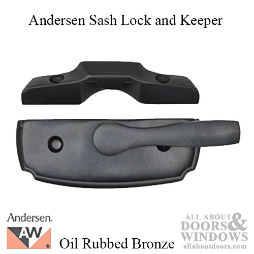 Andersen Woodwright Double Hung Windows Sash Lock & Keeper Set - Oil Rubbed Bronze by Andersen Windows