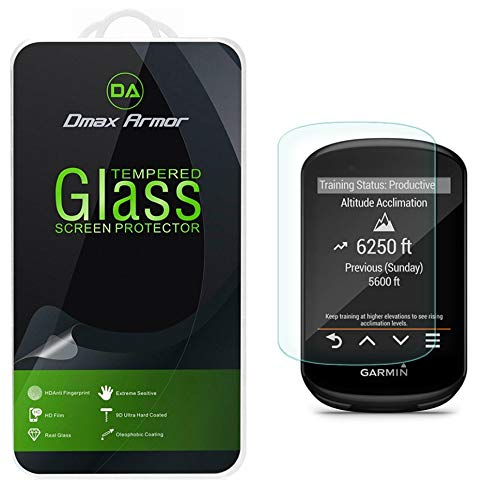 Dmax Armor for Garmin Edge 530 and Edge 830 Tempered Glass Screen Protector 2 Pack