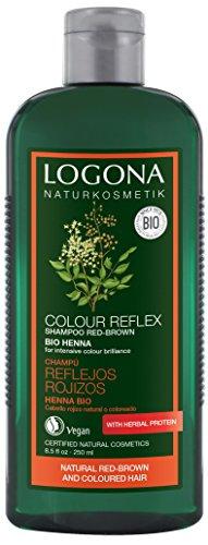 Logona Colour Care Shampoo Henna, Red/Brown 250 ml