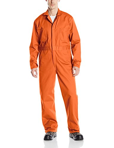 Ladies Red Short Kap - Red Kap Men's Snap Front Cotton Coverall, Oversized Fit, Long Sleeve, Orange, 38