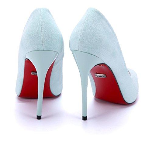 Schuhtempel24 Damen Schuhe Klassische Pumps Stiletto 12 cm High Heels Grün