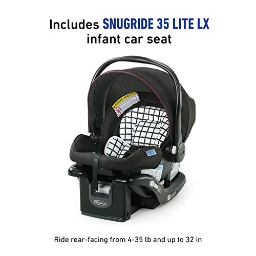 419eMDdjuML - Graco Modes Element Travel System, Includes Baby Stroller With Reversible Seat, Extra Storage, Child Tray And SnugRide 35 Lite LX Infant Car Seat, Ainsley