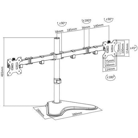 Proper P-DMBC012S-1 Support de moniteur Argent