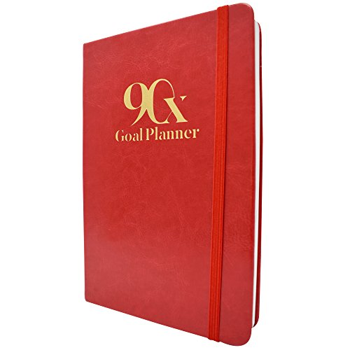 (90 Day Goal Planner by 90X - Self Journal for Daily, Weekly, Monthly Planning - Increase Productivity & Time Management - Undated Calendar Days - Includes Vision Board & To Do List (Classic Red))