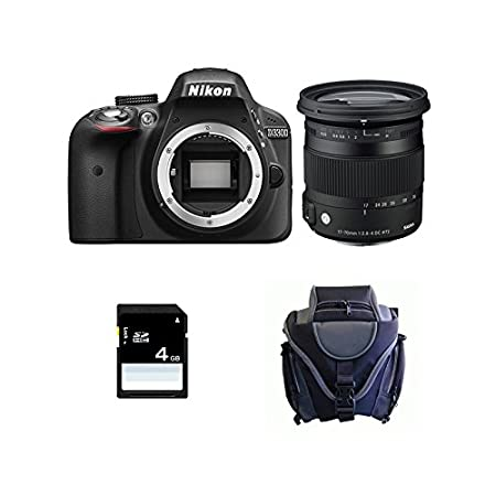NIKON D3300 + SIGMA 17-70 CONTEMPORARY + Sac + SD 4Go: Amazon.es ...