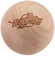 HockeyShot Swedish Stickhandling Wooden Ball Ll Weighs Just 57g with a 2-Inch Diameter