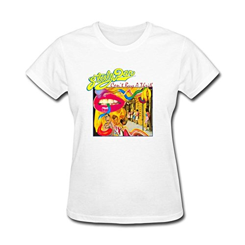 ylints-womens-steely-dan-cant-buy-a-thrill-t-shirt-size-xl-white