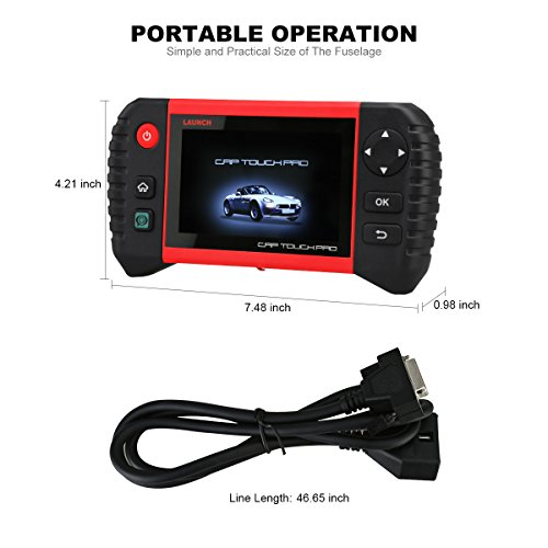 Launch CRP Touch Pro 5.0'' Android Touch Screen OBD2 Diagnostic Scan Tool for ABS, SRS, Transmission,Engine,Battery Registration, EPB, Oil Service Light Reset by Launch (Image #7)
