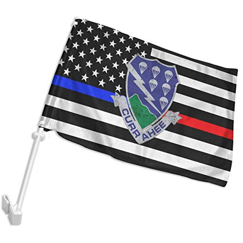 US Army Retro 506th Airborne Infantry Regiment Car Flag,Car Window Flag with Bracket,12x18 Inches