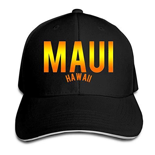 Classic Unisex Maui Hawaii Golf Hat Baseball Cap Black (Sonnenbrille Maui)