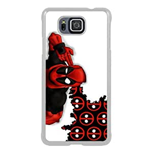Newest Samsung Galaxy Alpha Case ,Deadpool 3 White Samsung Galaxy Alpha Screen Phone Case Popular Fashion And Durable Designed
