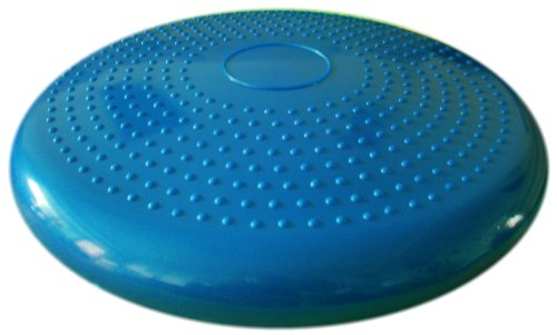 Air-Stability-Wobble-Cushion-Blue-35cm14in-Diameter-Balance-Disc-Pump-Included