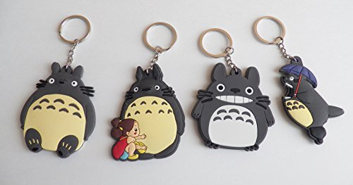 Chibi Pvc Keychain (4 pc My Neighbor Totoro PVC Bendable Rubber Keychain Set ~US Seller~)