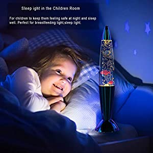 Lava Lamp,14 inches Mini Fish Lava Lamp – Bubble Lava Lamp LED Sensory Color Changing Aquarium Lamp Lava Night Light for Home Office Decor Perfect Gifts for Kids Great for Autism Sensory Toys
