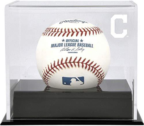 Cleveland Indians Display Baseball (Cleveland Indians Baseball Cube Logo Display Case)