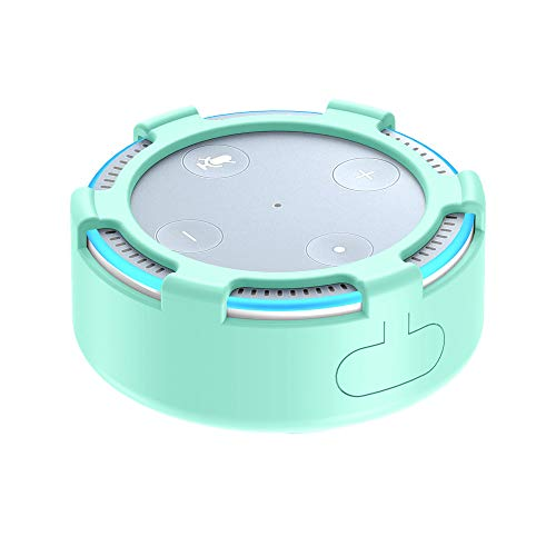 (YaidaProtective Silica Gel Cover Case for All-New Amazon Echo Dot 2 (Mint)