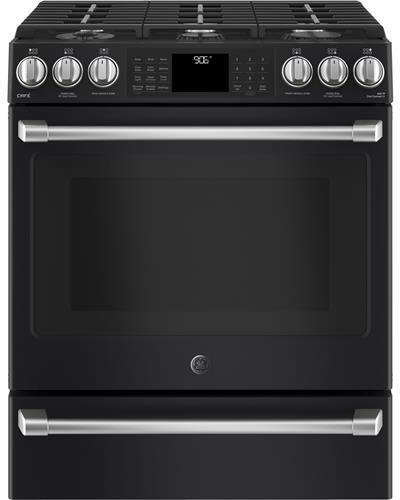 Amazon.com: GE Cafe cgs986eelds 30 slide-in Gas gama con ...