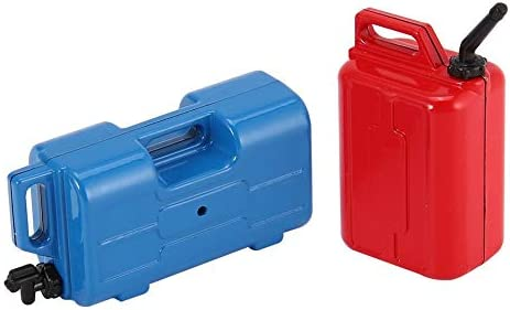 Red/&Blue 2Pcs Mini Fuel Gasoline Oil Tank Container for 1//10 RC4WD TRX-4 Crawler RC Car