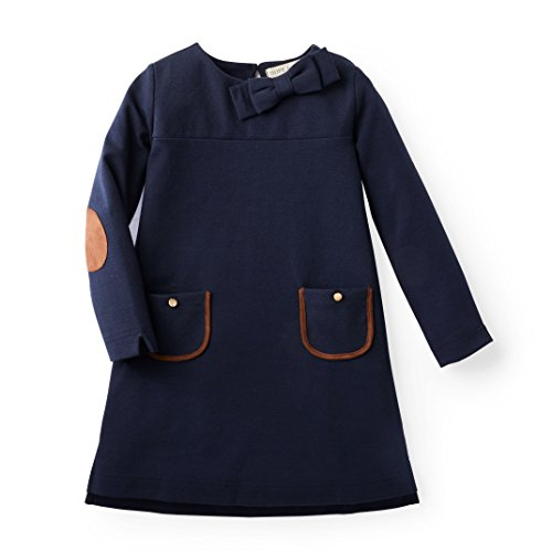 (Hope & Henry Girls' Navy Ponte Quilted Riding Dress)