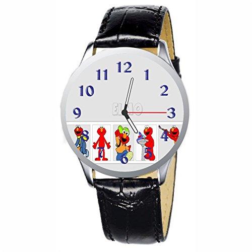 (LCW068-3 New Sesame Street Elmo Stainless Wristwatch Wrist Watch)