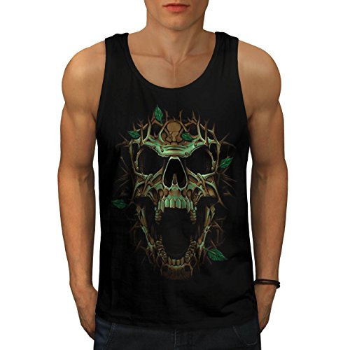 Tree Skull Gothic Biker Fantasy Men M Tank Top | Wellcoda