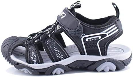 SENFI Boys Sport Sandal Summer Breathable Closed-Toe Strap Walking Shoes BSF
